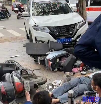 湛江海田发生交通事故